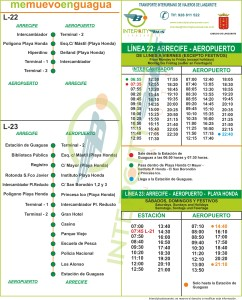 Timetable of Bus Line 22