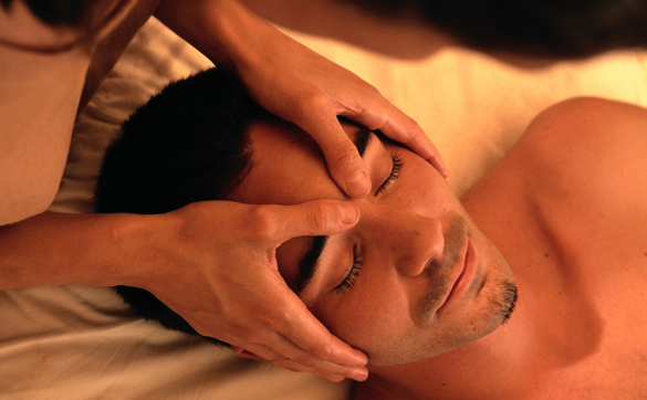 Conscious touch massage